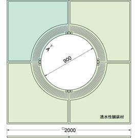 TG-KM-2090FDV / ルーツグレート(根囲い保護)
