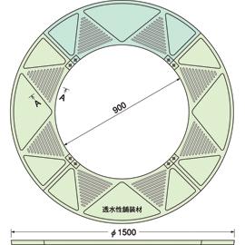 TG-M-1590FAV / ルーツグレート(根囲い保護)