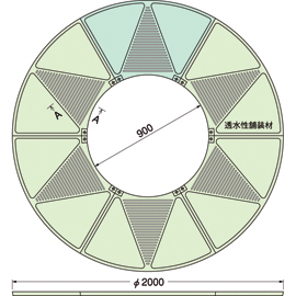 TG-M-2090FAV / ルーツグレート(根囲い保護)