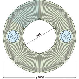 TG-M-2090FD-LG / ルーツグレート(根囲い保護)
