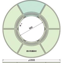 TG-M-2090FDV / ルーツグレート(根囲い保護)