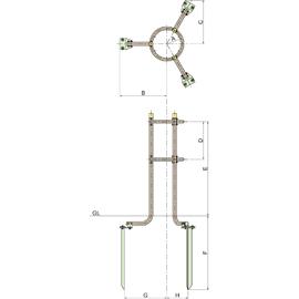 SW3-90 / 金属支柱