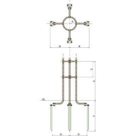 SW4-90 / 金属支柱