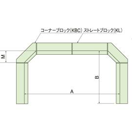 コンクリートブロック受枠歩道シリーズ用 / コンクリートブロック受枠