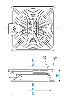 弁桝蓋 B-1A(B-1) / 上水道用蓋