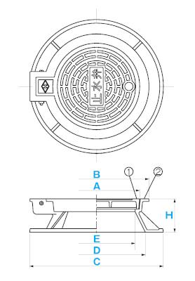弁桝蓋 B-1B / 上水道用蓋