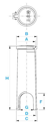 止水栓ボックス A-1 / 上水道用蓋