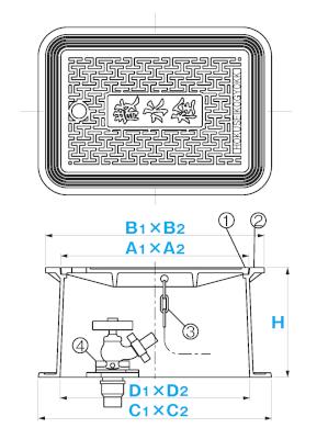 散水栓ボックス SA-B3F / 上水道用蓋