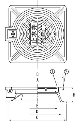 B-1A(B1) / 上水道用蓋