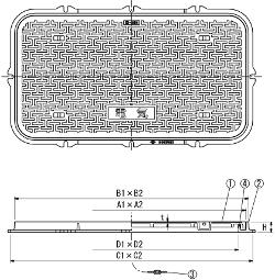 N2K / 電設用ハンドホール鉄蓋