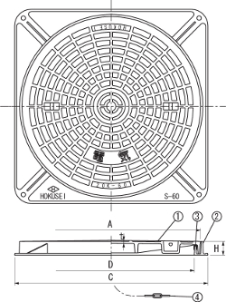 S20K / 電設用ハンドホール鉄蓋