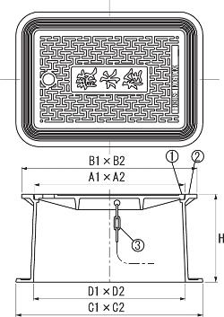 SA-B3B / 上水道用蓋