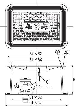 SA-B3F / 上水道用蓋