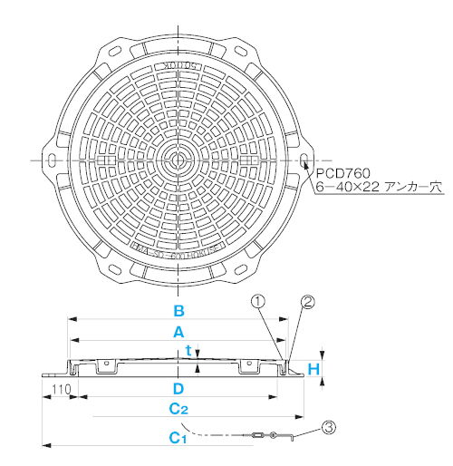 HMA-SDU600 / 防臭蓋