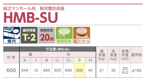 HMB-SU600 / 防臭蓋