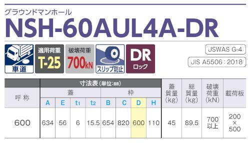 NSH-60AUL4A-DR / グラウンドマンホール