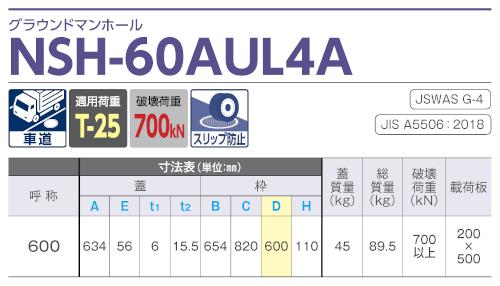 NSH-60AUL4A / グラウンドマンホール