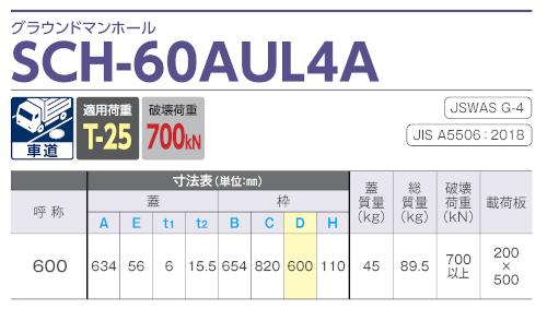 SCH-60AUL4A / グラウンドマンホール