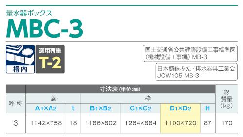 MBC-3 / 上水道用蓋